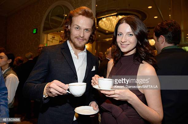 Actors Sam Heughan and Caitriona Balfe attend the BAFTA Los Angeles Tea Party at The Four Seasons Hotel Los Angeles At Beverly Hills on January 10...