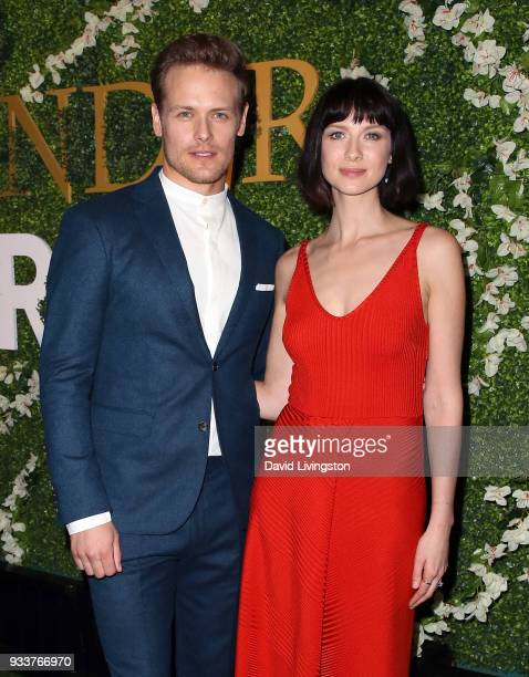 Actors Sam Heughan and Caitriona Balfe attend the For Your Consideration event for STARZ's 'Outlander' at the Linwood Dunn Theater on March 18 2018...