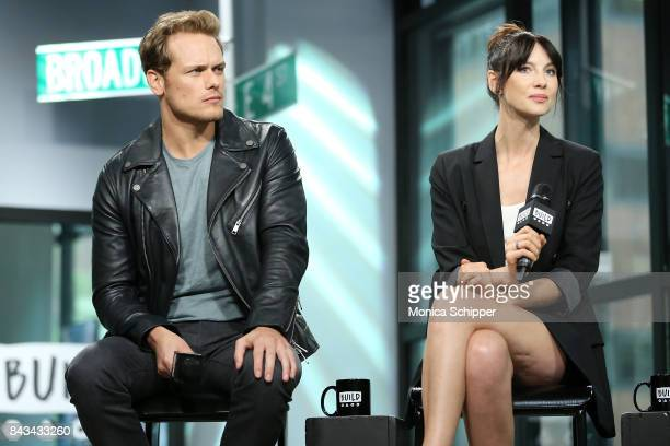 Actors Sam Heughan and Caitriona Balfe discuss Outlander at Build Studio on September 6 2017 in New York City