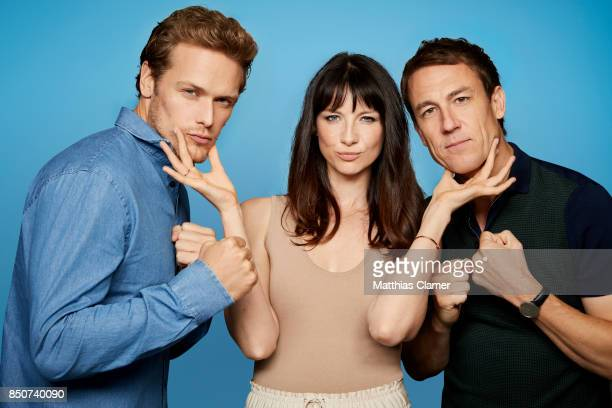 Actors Sam Heughan Caitriona Balfe and Tobias Menzies from Outlander are photographed for Entertainment Weekly Magazine on July 21 2017 at Comic Con...