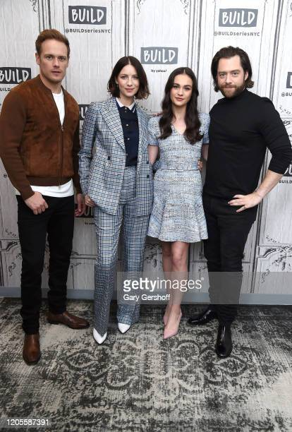 """Actors Sam Heughan, Caitriona Balfe, Sophie Skelton and Richard Rankin visit the Build Series to discuss season 5 of the Starz series """"Outlander"""" at..."""