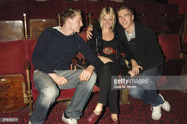 Actors Sam Hoare Sienna Miller and James Cook attend a showing of the play Immortal based on two pilots who are shot down over Holland during World...