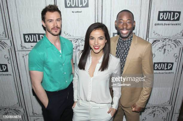Actors Sam Keeley Cristina Rodlo and Jeremy Tardy attend the Build Series to discuss 68 Whiskey at Build Studio on February 12 2020 in New York City