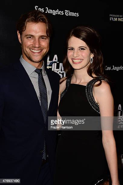 Actors Sam Page and Amelia Rose Blaire attend the 'Caught' screening during the 2015 Los Angeles Film Festival at Regal Cinemas LA Live on June 12...