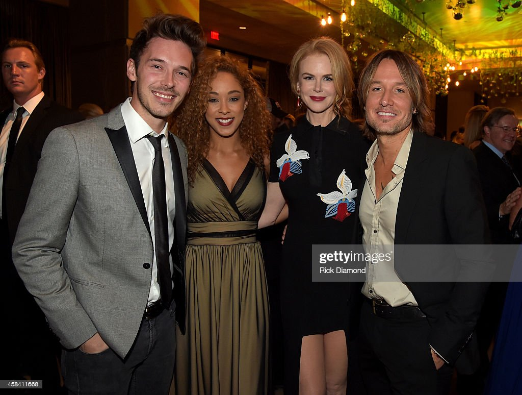 Actors Sam Palladio, Chaley Rose, Nicole Kidman, and singer-songwriter Keith Urban attend the BMI 2014 Country Awards at BMI on November 4, 2014 in Nashville, Tennessee.