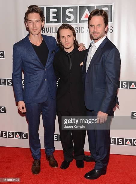 Actors Sam Palladio Jonathan Jackson and Charles Esten of Nashville attend the 2012 SESAC Nashville Music Awards at The Pinnacle at Symphony Place on...