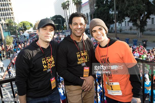 Actors Sam Randall Jon Huertas and Cameron Boyce attend the United Way Celebrates 11th Annual HomeWalk To End Homelessness IN LA County at Los...