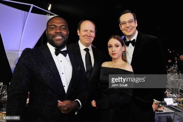 Actors Sam Richardson Dan Bakkedahl Sarah Sutherland and Nelson Franklin attend the 24th Annual Screen Actors Guild Awards at The Shrine Auditorium...