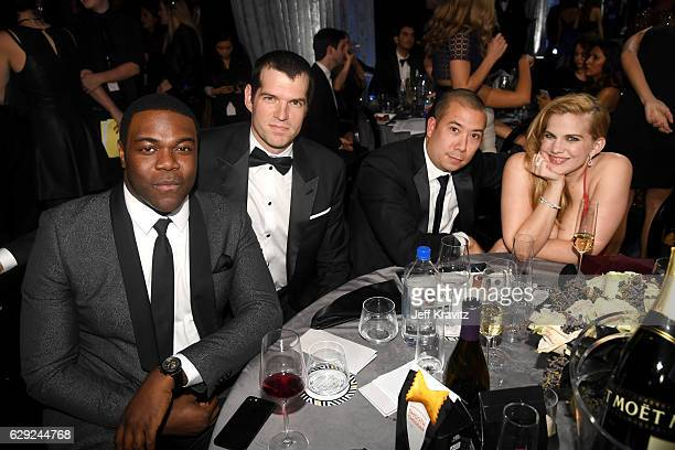 Actors Sam Richardson Timothy Simons Shaun So and Anna Chlumsky attend The 22nd Annual Critics' Choice Awards at Barker Hangar on December 11 2016 in...