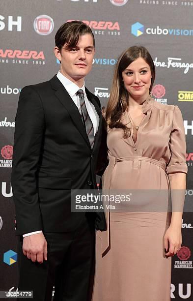 Actors Sam Riley and Alexandra Maria Lara attend the 'Rush' premiere at Auditorium della Conciliazione on September 14 2013 in Rome Italy