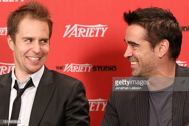 Actors Sam Rockwell and Colin Farrell at Variety Studio presented by Moroccanoil on Day 1 at Holt Renfrew, Toronto during the 2012 Toronto...