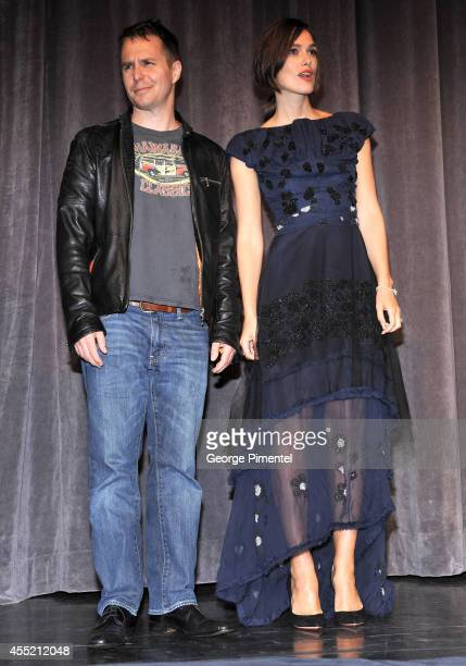 Actors Sam Rockwell and Keira Knightley attend the Laggies premiere during the 2014 Toronto International Film Festival at Roy Thomson Hall on...