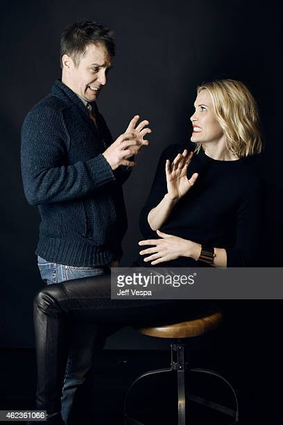 Actors Sam Rockwell and Leslie Bibb of 'Don Verdean' pose for a portrait at the Village at the Lift Presented by McDonald's McCafe during the 2015...