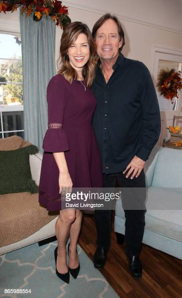 Actors Sam Sorbo and Kevin Sorbo visit Hallmark's 'Home Family' at Universal Studios Hollywood on October 24 2017 in Universal City California