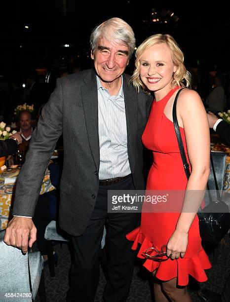 Actors Sam Waterston and Alison Pill attend the premiere of HBO's 'The Newsroom' Season 3 at the DGA Theater on November 4 2014 in Los Angeles...