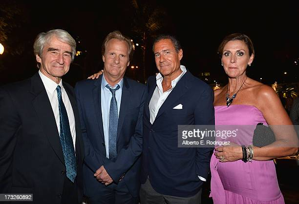 Actors Sam Waterston Jeff Daniels HBO CoPresident Richard Pepler and Kathleen Treado attend the after party for the premiere of HBO's 'The Newsroom'...