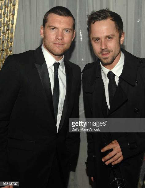 Actors Sam Worthington and Giovanni Ribisi attend Fox's 2010 Golden Globes Awards Party at Craft on January 17 2010 in Century City California