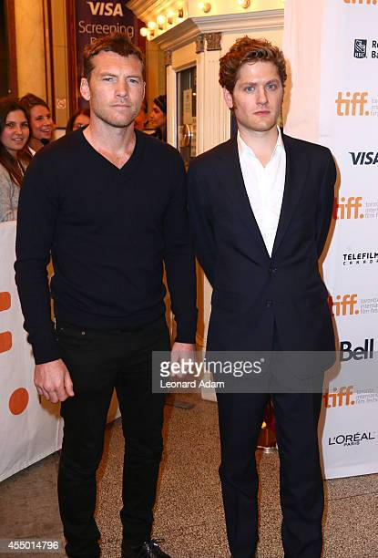 Actors Sam Worthington Kyle Soller attend The Keeping Room premiere during the 2014 Toronto International Film Festival at The Elgin on September 8...