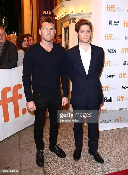 Actors Sam Worthington Kyle Soller attend 'The Keeping Room' premiere during the 2014 Toronto International Film Festival at The Elgin on September 8...