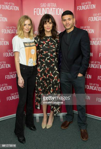 Actors Samara Weaving Frankie Shaw and Miguel Gomez attend SAGAFTRA Foundation Conversations screening of 'SMILF' at SAGAFTRA Foundation Screening...