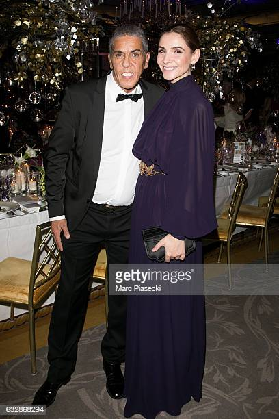 Actors Sami Naceri and Clotilde Courau attend 'The Best Award Gala 40th Edition' at Four Seasons George V hotel on January 27 2017 in Paris France