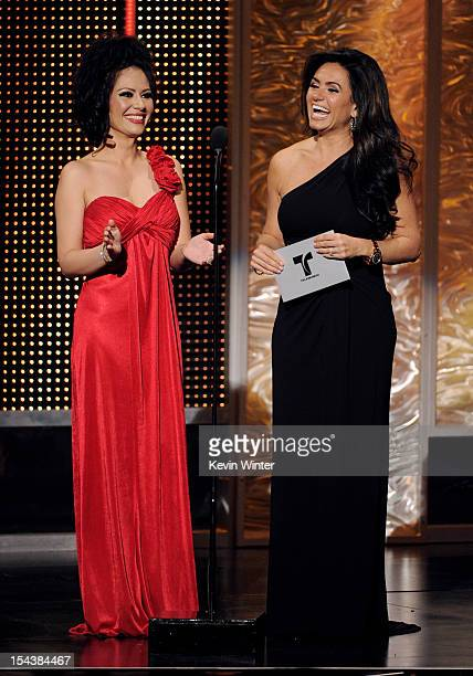 Actors Samia and Penelope Menchaca appear onstage at the Billboard Mexican Music Awards presented by State Farm on October 18 2012 in Los Angeles...
