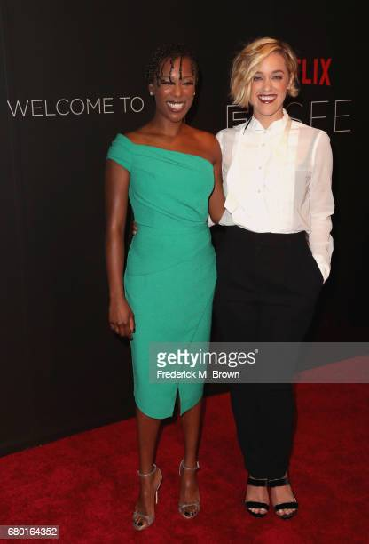 Actors Samira Wiley and Lauren Morelli arrive at the Netflix FYSee Kick Off Event at Netflix FYSee Space on May 7 2017 in Beverly Hills California