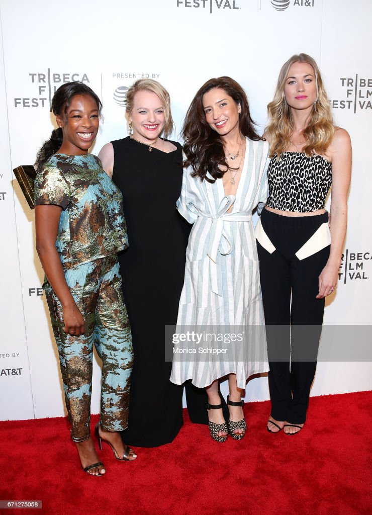 Actors Samira Wiley ands Elisabeth Moss, director and producer Reed Morano, and actress Yvonne Strahovski attend the premiere of 'The Handmaid's Tale' during Tribeca Film Festival at BMCC Tribeca PAC on April 21, 2017 in New York City.