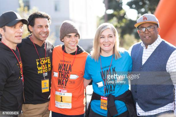 Actors Samm Randall Jon Huertas and Cameron Boyce Elise Buik President and CEO of United Way of Greater Los Angeles and Board of Supervisors Chairman...