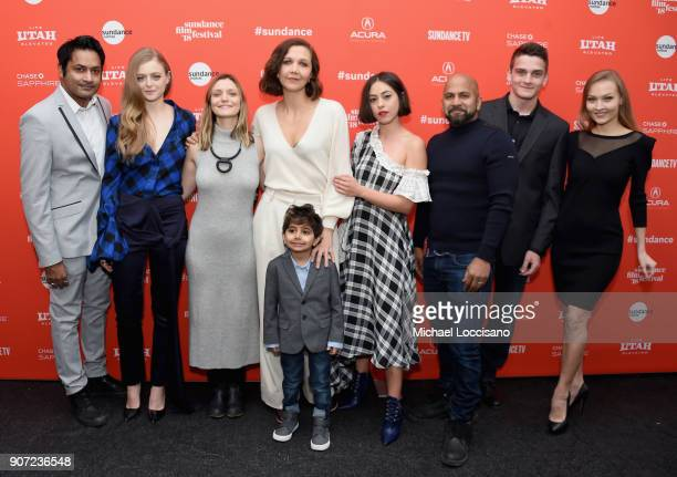 Actors Samrat Chakrabarti and Anna Baryshnikov and director Sara Colangelo and actors Maggie Gyllenhaal Parker Sevak Rosa Salazar Ajay Naidu Sam...