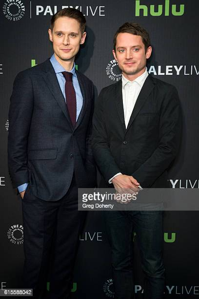 "Actors Samuel Barnett and Elijah Wood arrives for the PaleyLive LA - ""Dirk Gently's Holistic Detective Agency"" Premiere Screening And Conversation at..."