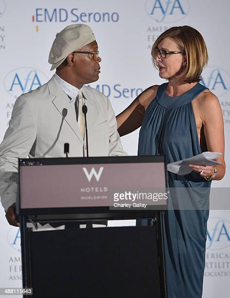 Actors Samuel L Jackson and Brenda Strong attend the American Fertility Association's Illuminations LA at W Hollywood on May 3 2014 in Hollywood...