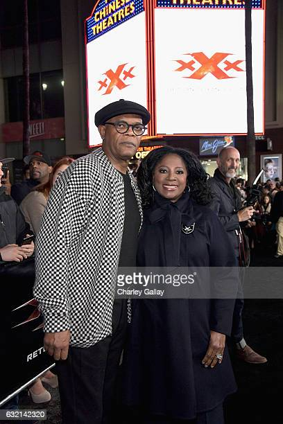 Actors Samuel L Jackson and LaTanya Richardson attend the LA Premiere of the Paramount Pictures title 'xXx Return of Xander Cage' at TCL Chinese...