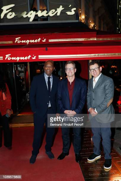 Laura Flessel attends 'Ryder Cup Dinner' at Fouquet's Barriere on September 24 2018 in Paris France