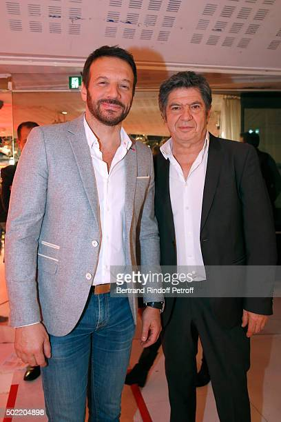 Actors Samuel le Bihan and Lionel Astier present the TV Series 'Alex Hugo' during the 'Vivement Dimanche' French TV Show at Pavillon Gabriel on...