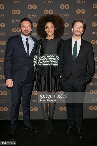 e6710360b95 Actors Samuel Le Bihan Stefi Celma and Thibault de Montalembert attend the   GQ Men Of