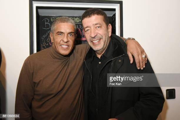 Actors Samy Naceri and Slimane Dazi attend 'Bagel N Fries' Restaurant Opening Party on November 28 2017 in Paris France