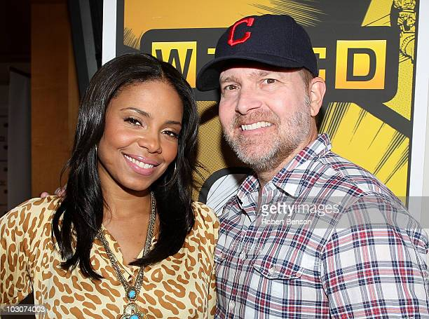 Actors Sanaa Lathan and Mike Henry attend Day 3 of the WIRED Cafe at Comic-Con 2010 held at the Omni Hotel on July 24, 2010 in San Diego, California.