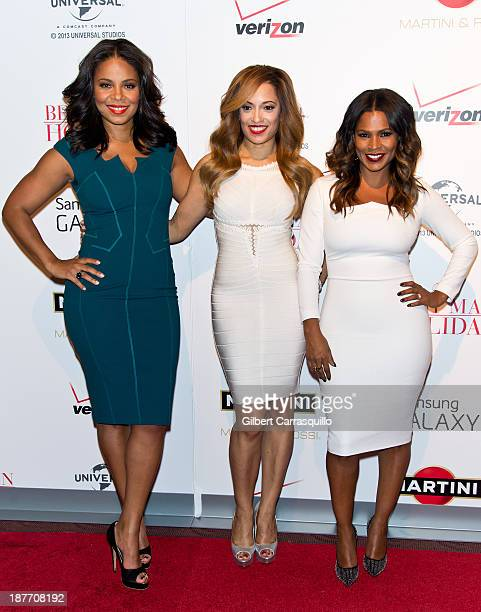 Actors Sanaa Lathan Melissa De Sousa and Nia Long attend 'The Best Man Holiday' screening at Chelsea Bow Tie Cinemas on November 11 2013 in New York...
