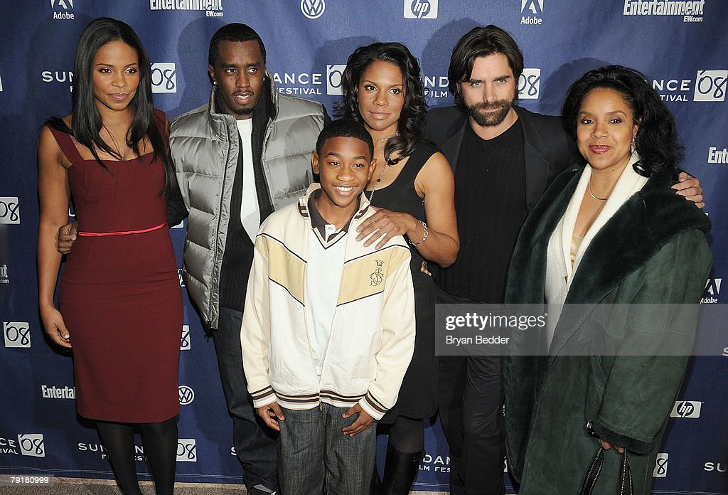Actors Sanaa Lathan, Sean 'P. Diddy' Combs, Justin Martin, Audra McDonald, John Stamos, Phylicia Rashad arrive at the premiere of 'A Raisin in the Sun' held at the Eccles Theatre during the 2008 Sundance Film Festival on January 23, 2008 in Park City, Utah.