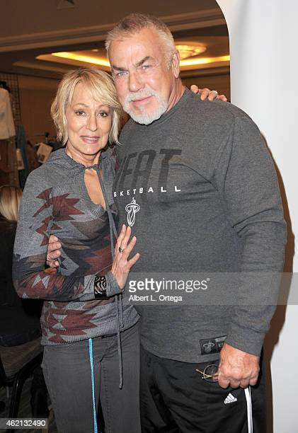 Actors Sandahl Bergman and SvenOle Thorsen at The Hollywood Show held at The Westin Hotel LAX on January 24 2015 in Los Angeles California
