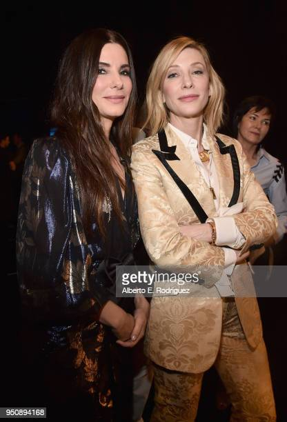 Actors Sandra Bullock and Cate Blanchett attend CinemaCon 2018 Warner Bros Pictures Invites You to The Big Picture an Exclusive Presentation of our...