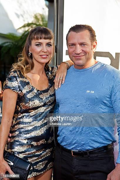 Actors Sandra Vidal and Dimitri Diatchenko attend HBO's True Blood Season 5 Los Angeles premiere at ArcLight Cinemas Cinerama Dome on May 30 2012 in...