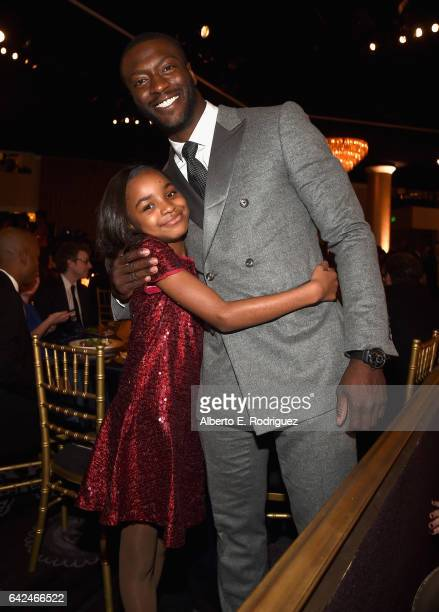 Actors Saniyya Sidney and Aldis Hodge attend BET Presents the American Black Film Festival Honors on February 17 2017 in Beverly Hills California