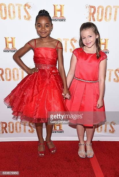 Actors Saniyya Sidney and Kiera Strauss attend the Roots night one screening at Alice Tully Hall Lincoln Center on May 23 2016 in New York City