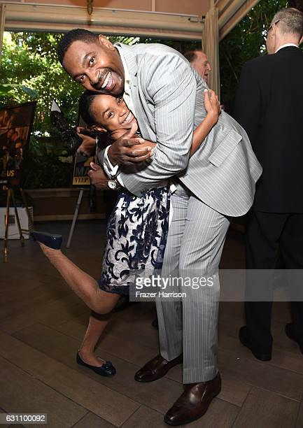 Actors Saniyya Sidney and Mykelti Williamson attend the 17th annual AFI Awards at Four Seasons Los Angeles at Beverly Hills on January 6, 2017 in Los...
