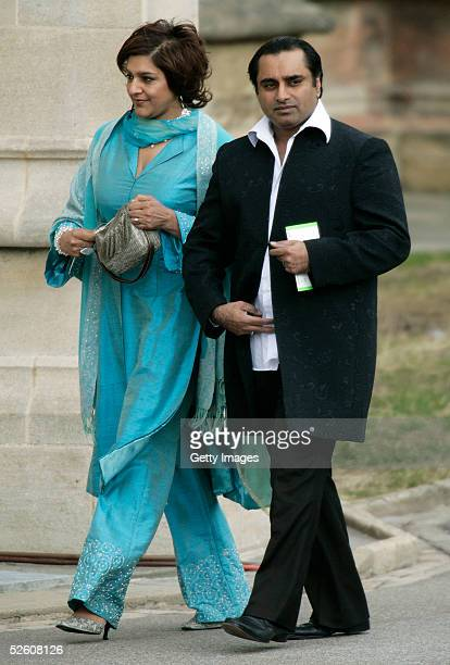 Actors Sanjeev Bhaskar and Meera Syal attend the Service of Prayer and Dedication following the marriage of TRH Prince Charles and The Duchess Of...
