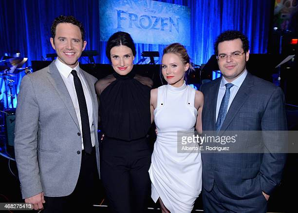 Actors Santino Fontana Idina Menzel Kristen Bell and Josh Gad attend The Celebration Of The Music Of Disney's Frozen FOR THE FIRST TIME IN FOREVER...