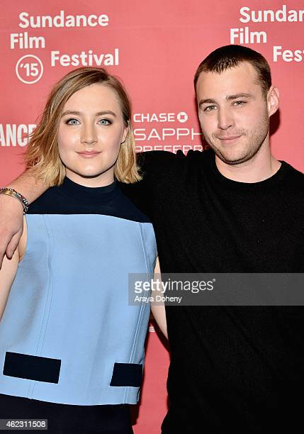 Actors Saoirse Ronan and Emory Cohen attend the Brooklyn Premiere during the 2015 Sundance Film Festival on January 26 2015 in Park City Utah
