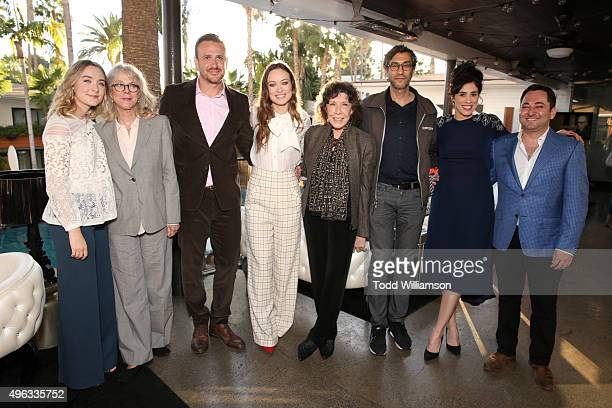 Actors Saoirse Ronan Blythe Danner Jason Segel Olivia Wilde Lily Tomlin writer Ramin Bahrani actress Sarah Silverman and THR's Scott Feinberg attend...